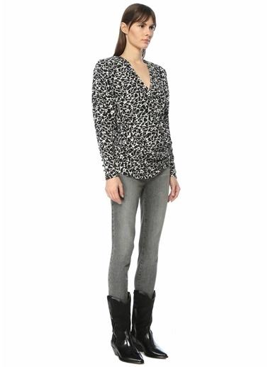 Etoile Isabel Marant Etoile Isabel Marant   Desenli Anvelop Bluz 101550505 Siyah